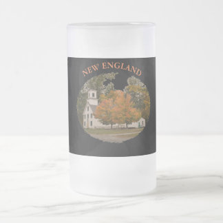 New England Frosted 16 oz Frosted Glass Mug