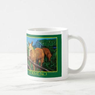 """New England Horses"" by Zermeno Classic White Coffee Mug"