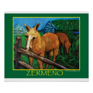 """""""New England Horses"""" by Zermeno Posters"""