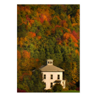New England House in Autumn ATC Card Pack Of Chubby Business Cards