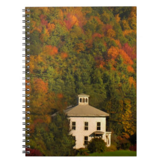 New England House in Autumn Notebook