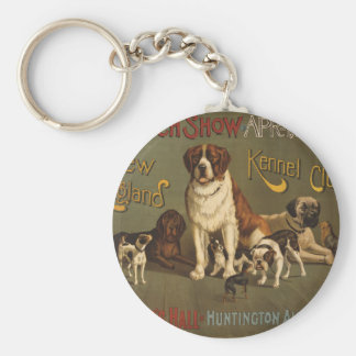 New England Kennel Club Basic Round Button Key Ring