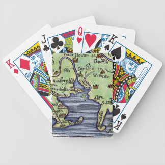 NEW ENGLAND MAP 1677 BICYCLE PLAYING CARDS