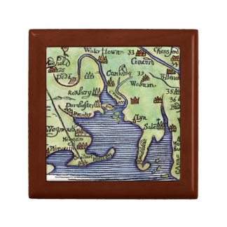 NEW ENGLAND MAP 1677 GIFT BOX