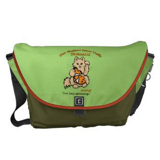 New England Meow Outfit Messenger Bag