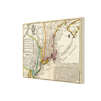 New England, New York, New Jersey and Pennsylvania Canvas Print