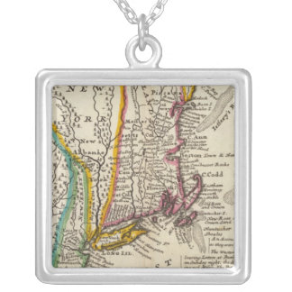 New England, New York, New Jersey and Pennsylvania Silver Plated Necklace