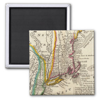New England, New York, New Jersey and Pennsylvania Square Magnet