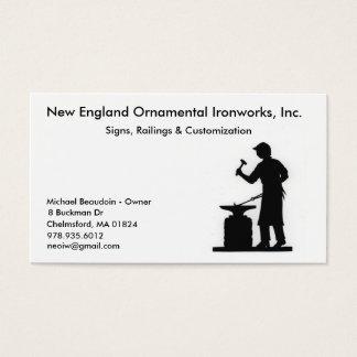 New England Ornamental Ironworks Business Card