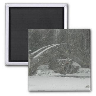 New England Snowy Bridge Refrigerator Magnets