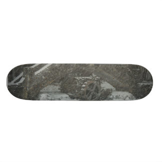 New England Snowy Bridge Custom Skate Board