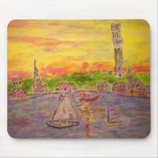 new england sunset mouse pad
