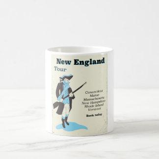 New england Tour vintage travel poster Coffee Mug