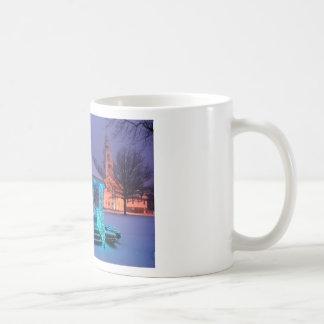 New England Town Common Winter Scene Classic White Coffee Mug