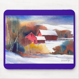 New England Valley Farm Mouse Pad