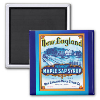 New England Vermont Maple Syrup Square Magnet