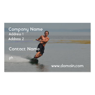 New England Wakeboarder Pack Of Standard Business Cards