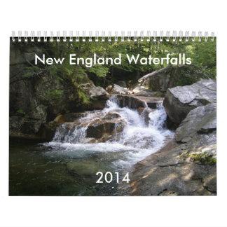 New England Waterfalls 2014 Calendar