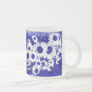 New England Wild Aster 10 Oz Frosted Glass Coffee Mug
