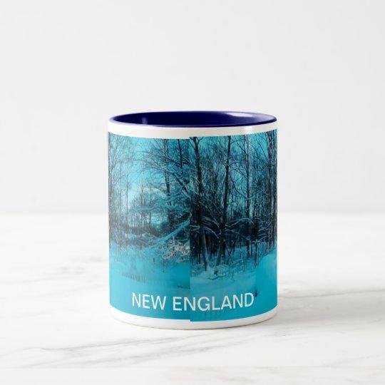 NEW ENGLAND WINTER Two-Tone COFFEE MUG
