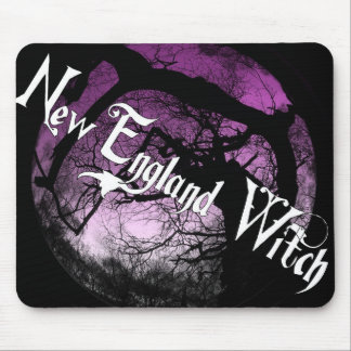 New England Witch-Mouse Pad Mouse Pad
