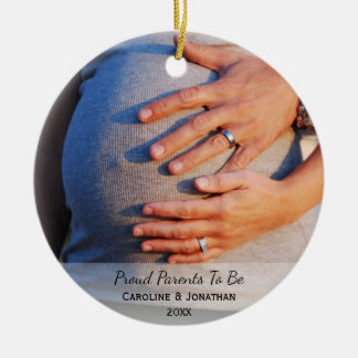 New Expecting Parents to Be Simple Classic Photo Christmas Ornament