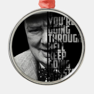New Famous Winston Quote Art Picture Silver-Colored Round Decoration