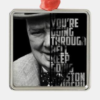 New Famous Winston Quote Art Picture Silver-Colored Square Decoration
