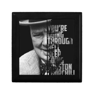New Famous Winston Quote Art Picture Small Square Gift Box