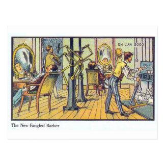 New Fangled Barber Postcard