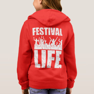 New FESTIVAL LIFE (wht) Hoodie