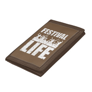 New FESTIVAL LIFE (wht) Tri-fold Wallets