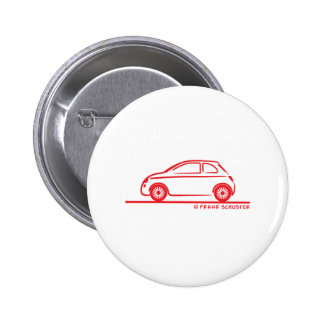 New Fiat 500 Cinquecento 6 Cm Round Badge