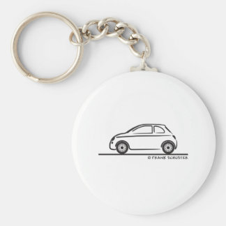 New Fiat 500 Cinquecento Basic Round Button Key Ring
