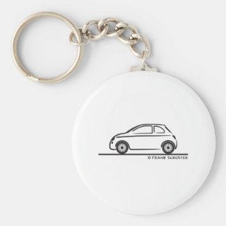 New Fiat 500 Cinquecento Basic Round Button Key Ring