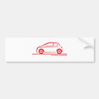 New Fiat 500 Cinquecento Bumper Sticker