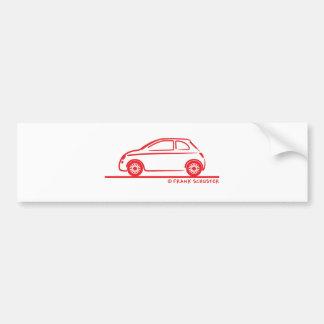 New Fiat 500 Cinquecento Car Bumper Sticker