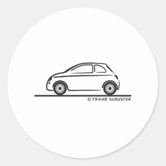 New Fiat 500 Cinquecento Classic Round Sticker