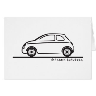 New Fiat 500 Cinquecento Greeting Card