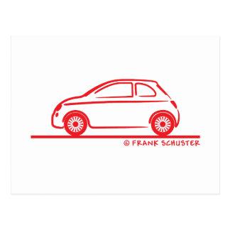 New Fiat 500 Cinquecento Postcard