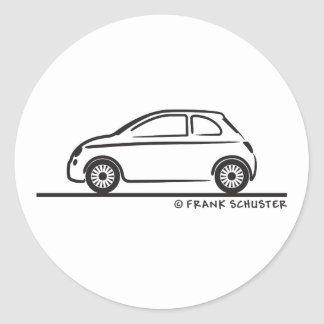 New Fiat 500 Cinquecento Round Sticker