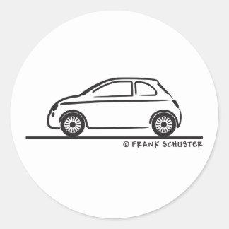 New Fiat 500 Cinquecento Round Sticker