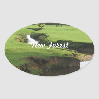 New Forest Oval Sticker