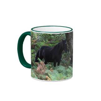 New Forest Ponies of Hampshire England Ringer Mug