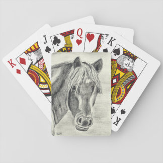 New forest pony (a239) playing cards