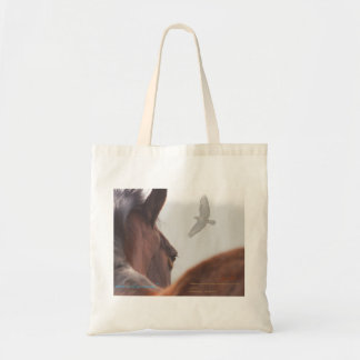 New forest Pony and Buzzard Budget Tote Bag