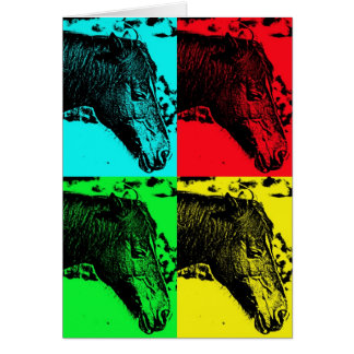 New Forest pony pop-art card