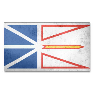 NEW FOUNDLAND Flag Magnetic Business Cards