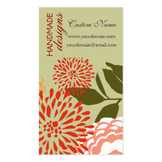 New Fresh Flowers Summer Spring Florals Business Card Templates