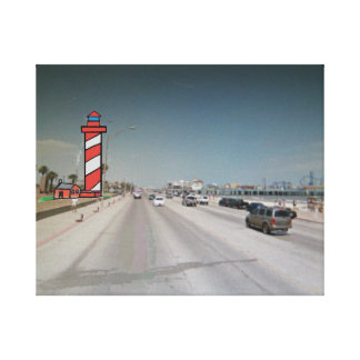 New Galveston Texas Lighthouse Stretched Canvas Prints